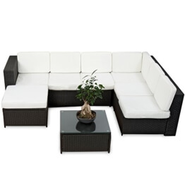 20tlg. Deluxe Lounge Set Gruppe Polyrattan Sitzgruppe handgeflochten