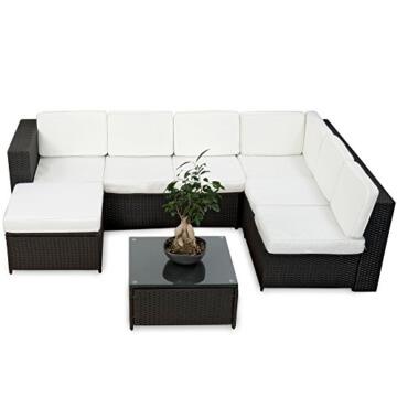 li il 20tlg deluxe lounge set gruppe polyrattan sitzgruppe handgeflochten. Black Bedroom Furniture Sets. Home Design Ideas