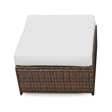 li il erweiterbares 15tlg balkon polyrattan lounge ecke. Black Bedroom Furniture Sets. Home Design Ideas