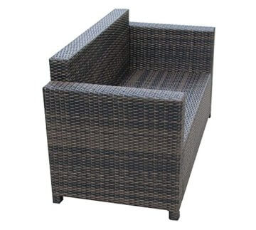Garten Lounge Set Sitzmoebel Cannes in braun Rattan Lounge Polyrattan
