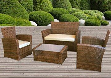Gartenmöbel Le Havre in braun II Garten Lounge von Jet-Line Moebel Rattan Polyrattan