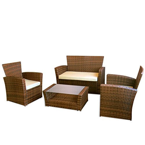 li il gartenm bel le havre in braun ii garten lounge von jet line moebel rattan polyrattan. Black Bedroom Furniture Sets. Home Design Ideas