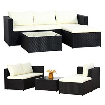 li il malaga polyrattan garten lounge von di gard. Black Bedroom Furniture Sets. Home Design Ideas