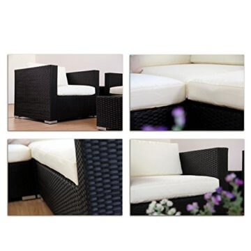 Napo Polyrattan Garten Lounge Alu