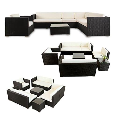 li il garten lounge napo polyrattan garten lounge alu. Black Bedroom Furniture Sets. Home Design Ideas
