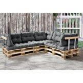 Palettenkissen  11teilige Garten Lounge mit Kissen und Polster