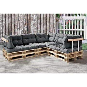 li il palettenkissen 11teilige garten lounge mit kissen. Black Bedroom Furniture Sets. Home Design Ideas