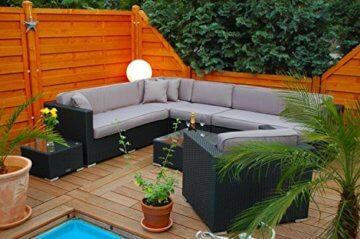 Polyrattan Lounge mit Tisch und Polster