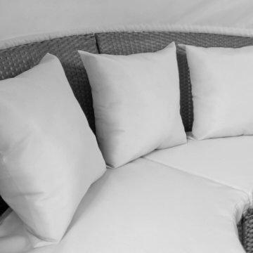 li il garten lounge runde polyrattan lounge sonneninsel mit dach. Black Bedroom Furniture Sets. Home Design Ideas