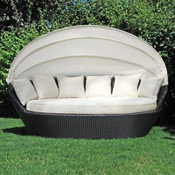 Gartenlounge rattan rund  ▷ lI❶Il Sonneninsel Polyrattan Garten Lounge rund mit 6 Kissen ...