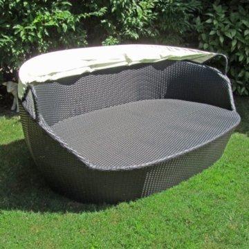 li il sonneninsel polyrattan garten lounge rund mit 6 kissen. Black Bedroom Furniture Sets. Home Design Ideas