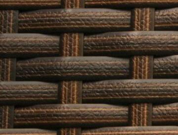 Bio Ethanol Feuersäule aus Polyrattan Farbe Java Braun