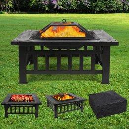 Femor Multifunktional Feuerstelle Outdoor 81x81x44cm BBQ