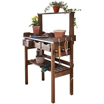 Pflanztisch für Garten Terrasse Balkon 3 Schubladen