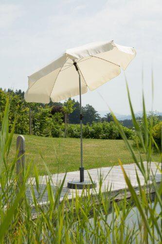 Schneider Sonnenschirm Locarno, natur, ca. 200 cm Ø, 8-teilig, rund