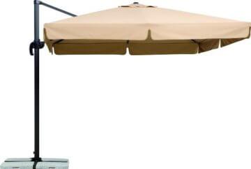 Schneider Sonnenschirm Rhodos, natur, ca. 300 x 300 cm quadratisch