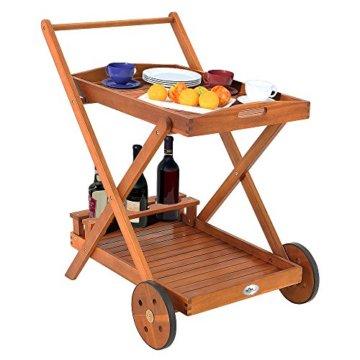 Servierwagen aus Holz -Teewagen Barwagen Küchenwagen Rollwagen