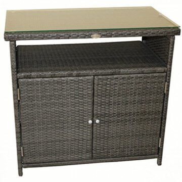 li il sideboard belmonte alu kunststoffgeflecht rattan optik. Black Bedroom Furniture Sets. Home Design Ideas