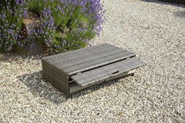 greemotion Bahia Rondo 3-in-1 braun bicolor, inkl. Auflagen in Sandfarben, Gartensofa mit zwei Ablagetabletts, 6-fach verstellbare Rückenlehne, Lounge aus witterungsbeständigem Poly-Rattan - 7