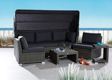 poly rattan sonneninsel set strandkorb barcelona relax garten. Black Bedroom Furniture Sets. Home Design Ideas
