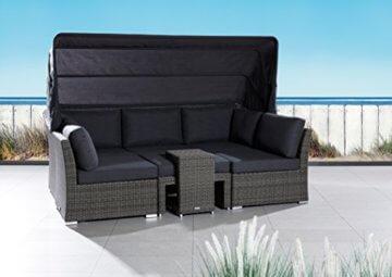 poly rattan sonneninsel set strandkorb barcelona relax garten. Black Bedroom Furniture Sets. Home Design Ideas