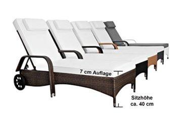 Wundervoll XXL Sonnenliege Aus Poly Rattan, Liege Bis 160 Kg Belastbar, Modell 2017  Toscana Für