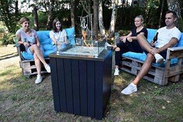ACTIVA Gas Feuerstelle Gasfeuerstelle Asano Glas Flammenschutz Edelstahl Terrasse Garten Kamin Outdoor - 4