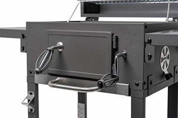 ACTIVA Grill Grillwagen Angular, Schwarz, Holzkohlegrill BBQ Barbecue, Holzkohle-Grill mit Deckel - 3