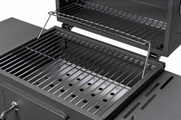 ACTIVA Grill Grillwagen Angular, Schwarz, Holzkohlegrill BBQ Barbecue, Holzkohle-Grill mit Deckel - 4