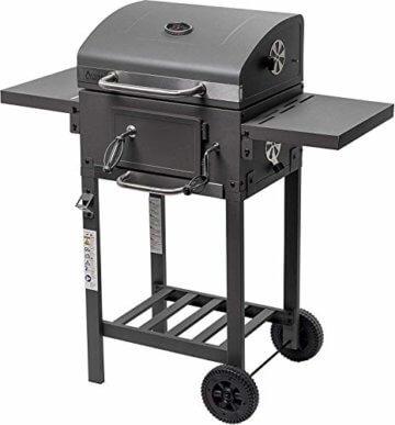 ACTIVA Grill Grillwagen Angular, Schwarz, Holzkohlegrill BBQ Barbecue, Holzkohle-Grill mit Deckel - 1