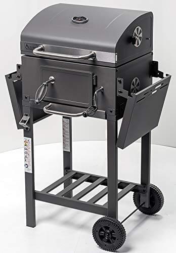 ACTIVA Grill Grillwagen Angular, Schwarz, Holzkohlegrill BBQ Barbecue, Holzkohle-Grill mit Deckel - 5