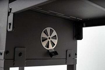 ACTIVA Grill Grillwagen Angular, Schwarz, Holzkohlegrill BBQ Barbecue, Holzkohle-Grill mit Deckel - 6