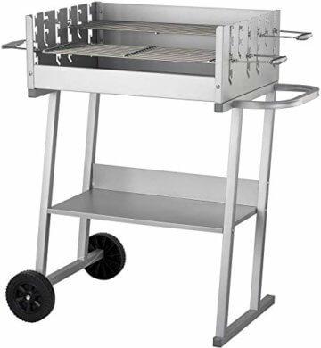 ACTIVA Grill Grillwagen Holzkohlegrill Grill Barbecue Edelstahl Holzkohle Grillwagen Edelstahlgrill Holzkohle Edelstahl Grill Griller groß Kohle Grillwagen Kleiner Grill Barbecue Grill - 1