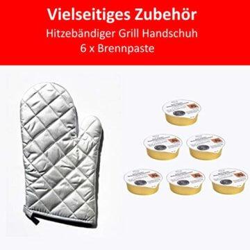Grill-Holzkohle Kugelgrill Rundgrill groß mit Deckel Ø 41cm fahrbar dreibein mit Aschebehälter inkl. Brennpaste und Handschuh für Grillzange, Grillbesteck - 7