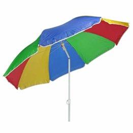 HI Sonnenschirm 180cm Strandschirm Balkonschirm Schirm Regenbogen Regenbogenfarben - 1