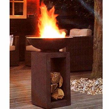 HOT Moderne Feuerschale Feuerkorb Feuerstelle aus Gussstein Ø 39,5cm H68,5 - 2