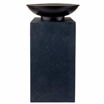 HOT Moderne Feuerschale Feuerkorb Feuerstelle aus Gussstein Ø 39,5cm H68,5 - 3