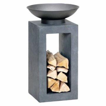 HOT Moderne Feuerschale Feuerkorb Feuerstelle aus Gussstein Ø 39,5cm H68,5 - 4