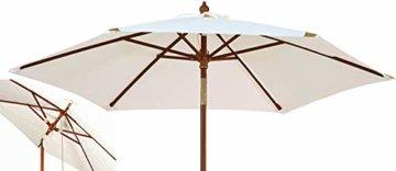 Kai Wiechmann Sonnenschirm Sunshine ø 240 cm, weiß, UV-Schutz 50+ ✓ kippbar ✓ Windauslass ✓ - 2