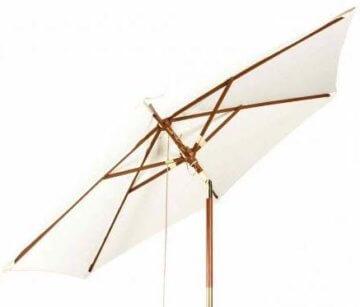 Kai Wiechmann Sonnenschirm Sunshine ø 240 cm, weiß, UV-Schutz 50+ ✓ kippbar ✓ Windauslass ✓ - 1
