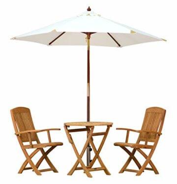 Kai Wiechmann Sonnenschirm Sunshine ø 240 cm, weiß, UV-Schutz 50+ ✓ kippbar ✓ Windauslass ✓ - 6