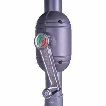 Nexos Sonnenschirm 3m Stahl-Gestell UV Schutz UPF 50+ Gartenschirm Marktschirm mit Kurbel Schirmstoff anthrazit wasserabweisend Höhe 230 cm - 3