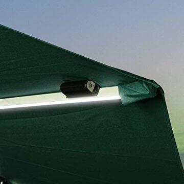 PURPLE LEAF 270 cm Sonnenschirm mit LED Beleuchtung Ampelschirm Gartenschirm Marktschirm, Grün - 4