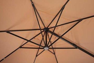 Schneider Rhodos Grande Sonnenschirm, rechteckig, sand, 400x300cm  - 8