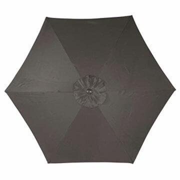 Sonnenschirm Ø 290cm Stahl Gestell UV Schutz UPF 50+ Gartenschirm Marktschirm mit Kurbel und neigbar Schirmstoff anthrazit wasser- und schmutzabweisend Höhe 230 cm - 5