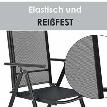 ArtLife Aluminium Gartengarnitur Milano | Gartenmöbel Set mit Tisch und 6 Stühlen | dunkel-grau mit schwarzer Kunstfaser | Alu Sitzgruppe Balkonmöbel - 2