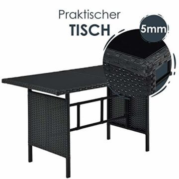 ArtLife Polyrattan Lounge Manacor | Gartenmöbel Set mit Sofa, Tisch & 2 Hockern | Bezüge grau | Sitzgruppe für Garten, Terrasse & Balkon - 8