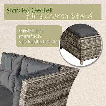 ArtLife Polyrattan Sitzgruppe Lounge Santa Catalina beige-grau – Gartenmöbel-Set mit Eck-Sofa & Tisch - bis 6 Personen - wetterfest & stabil - 2