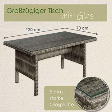 ArtLife Polyrattan Sitzgruppe Lounge Santa Catalina beige-grau – Gartenmöbel-Set mit Eck-Sofa & Tisch - bis 6 Personen - wetterfest & stabil - 5