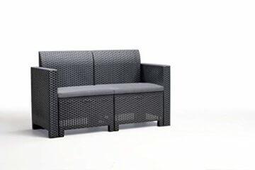 BICA Gartenmöbel Set Nebraska 2, Lounge 4 Plätze, Graphit, Rattan Design - 2
